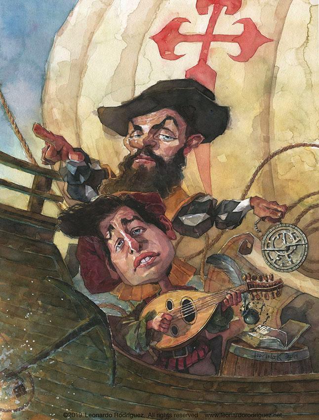 Illustration artist- Leonardo Rodriguez -bob dylan-magallanes-oporto-cartoon