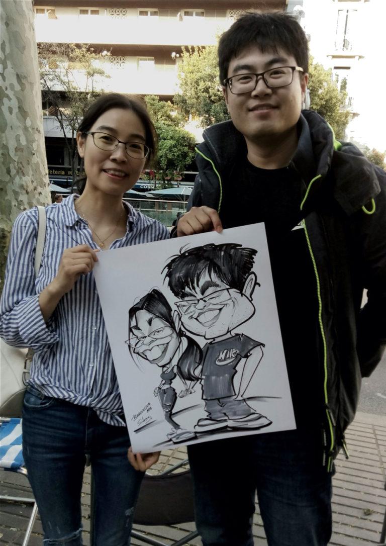 caricatura en vivo