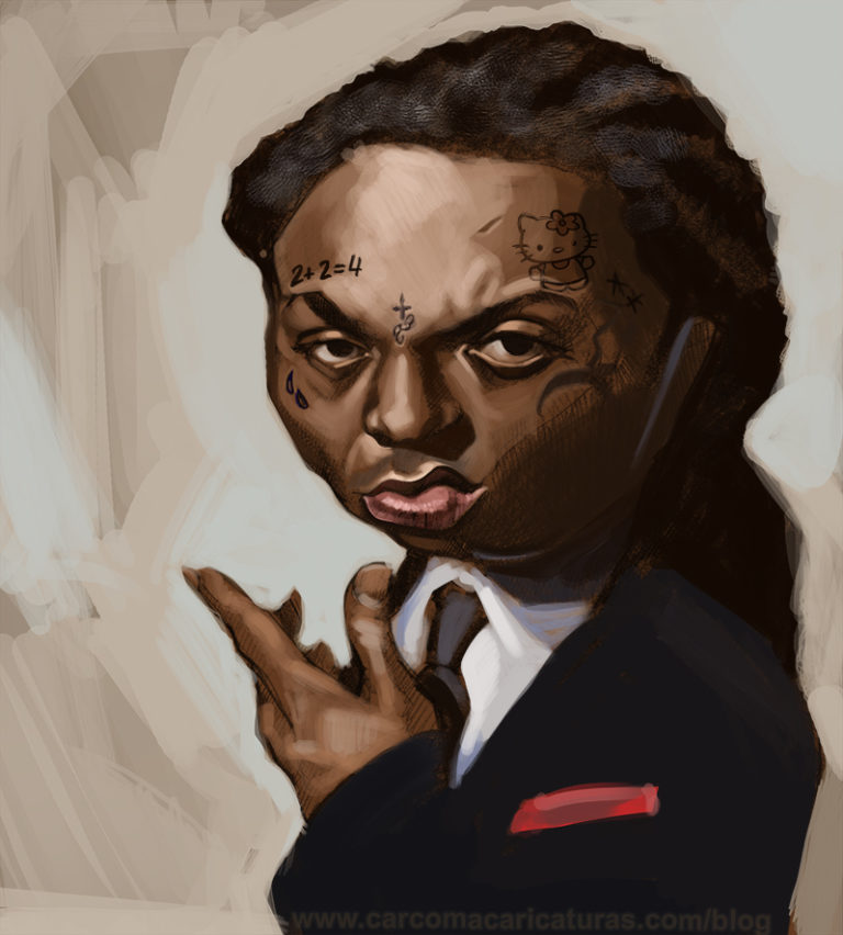 carcoam_caricaturas_lil_wayne_color2