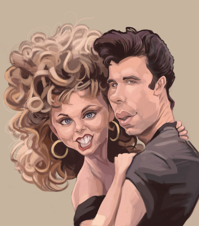 caricatura_famoso_grease